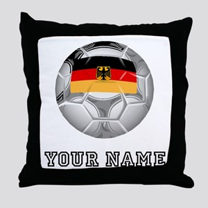 Germany Soccer Ball (Custom) Throw Pillow
