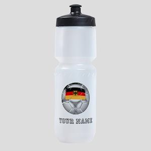 Germany Soccer Ball (Custom) Sports Bottle
