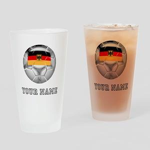 Germany Soccer Ball (Custom) Drinking Glass