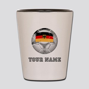 Germany Soccer Ball (Custom) Shot Glass