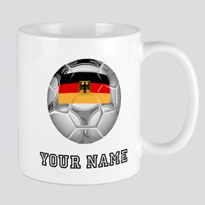 Germany Soccer Ball (Custom) Mugs