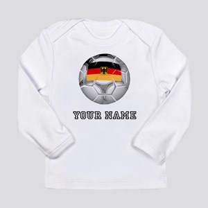 Germany Soccer Ball (Custom) Long Sleeve T-Shirt