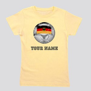 Germany Soccer Ball (Custom) Girl's Tee