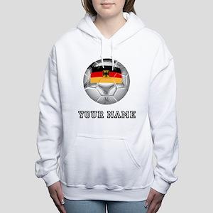 Germany Soccer Ball (Custom) Women's Hooded Sweats