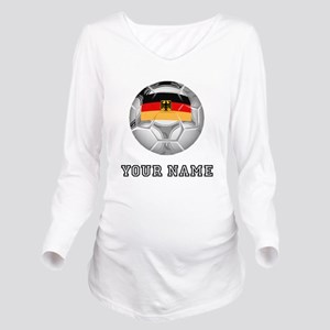Germany Soccer Ball (Custom) Long Sleeve Maternity