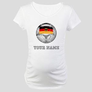 Germany Soccer Ball (Custom) Maternity T-Shirt