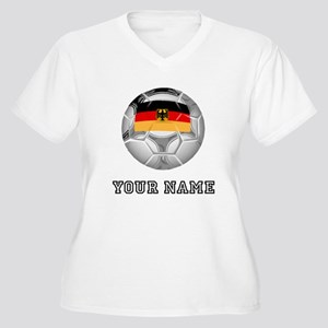 Germany Soccer Ball (Custom) Plus Size T-Shirt