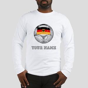 Germany Soccer Ball (Custom) Long Sleeve T-Shirt