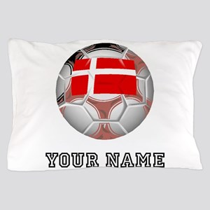 Denmark Soccer Ball (Custom) Pillow Case