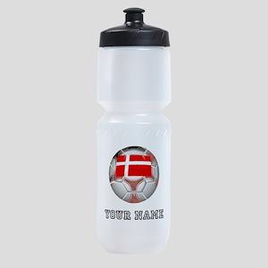 Denmark Soccer Ball (Custom) Sports Bottle