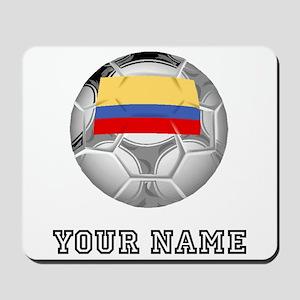 Colombia Soccer Ball (Custom) Mousepad
