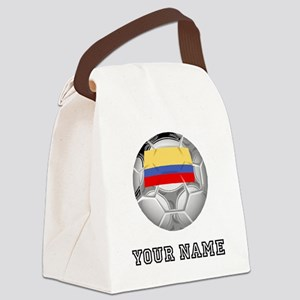 Colombia Soccer Ball (Custom) Canvas Lunch Bag