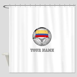 Colombia Soccer Ball (Custom) Shower Curtain