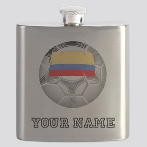 Colombia Soccer Ball (Custom) Flask