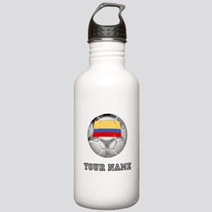Colombia Soccer Ball (Custom) Water Bottle