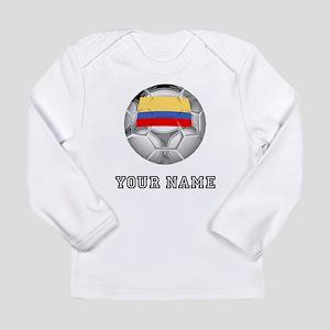 Colombia Soccer Ball (Custom) Long Sleeve T-Shirt