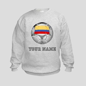Colombia Soccer Ball (Custom) Sweatshirt