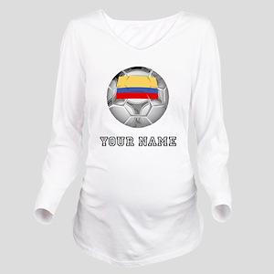 Colombia Soccer Ball (Custom) Long Sleeve Maternit