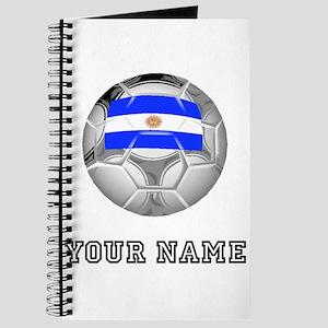 Argentina Soccer Ball (Custom) Journal
