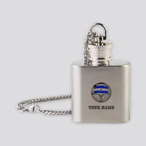 Argentina Soccer Ball (Custom) Flask Necklace