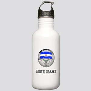 Argentina Soccer Ball (Custom) Water Bottle
