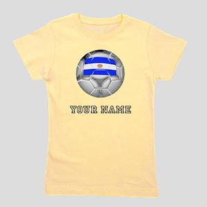 Argentina Soccer Ball (Custom) Girl's Tee