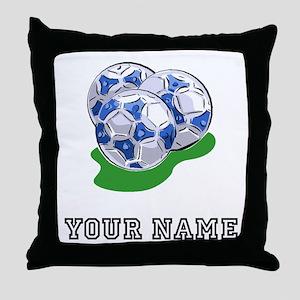 Soccer Balls (Custom) Throw Pillow