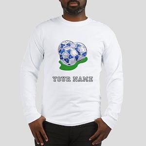 Soccer Balls (Custom) Long Sleeve T-Shirt