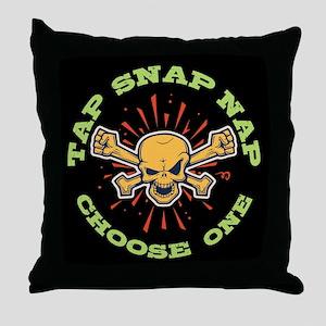 Tap Snap Nap Throw Pillow