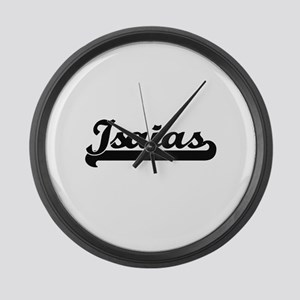 Isaias Classic Retro Name Design Large Wall Clock