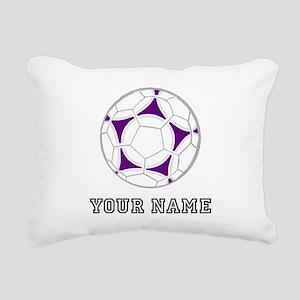 Soccer Ball (Custom) Rectangular Canvas Pillow