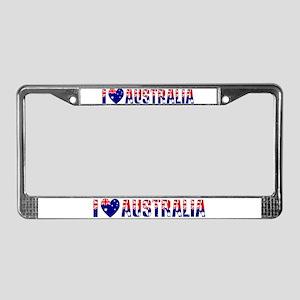 I love Australia License Plate Frame