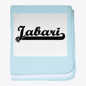 Jabari Classic Retro Name Design baby blanket