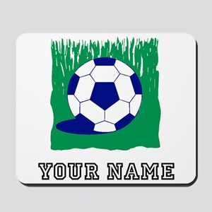 Soccer Ball In Grass (Custom) Mousepad