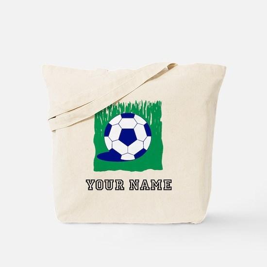 Soccer Ball In Grass (Custom) Tote Bag