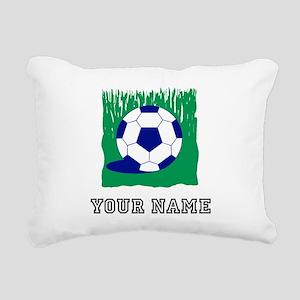 Soccer Ball In Grass (Custom) Rectangular Canvas P