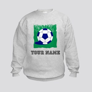 Soccer Ball In Grass (Custom) Sweatshirt