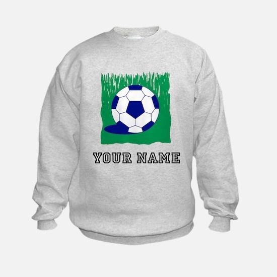Soccer Ball In Grass (Custom) Sweatshirt