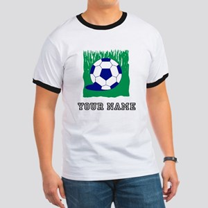Soccer Ball In Grass (Custom) T-Shirt