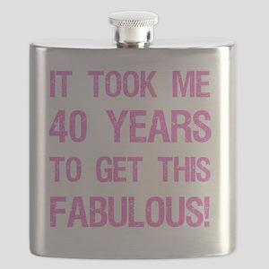 Women's 40th Birthday Flask