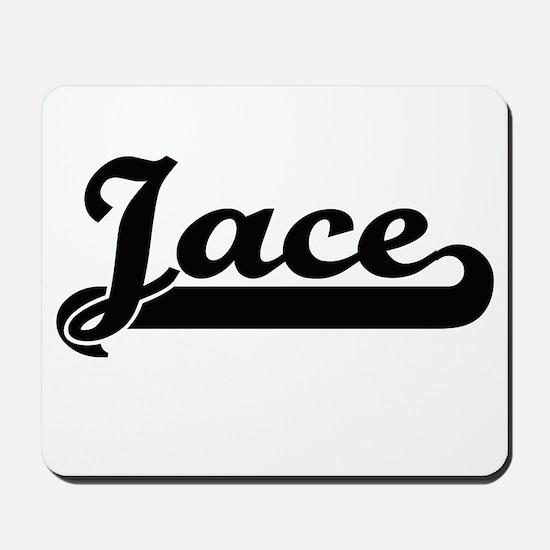 Jace Classic Retro Name Design Mousepad