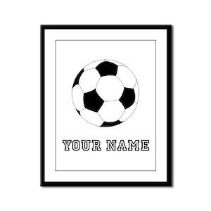 Soccer Ball (Custom) Framed Panel Print