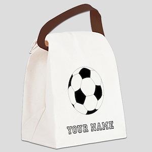 Soccer Ball (Custom) Canvas Lunch Bag