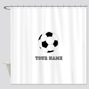 Soccer Ball (Custom) Shower Curtain