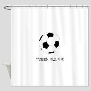 Soccer Ball Custom Shower Curtain