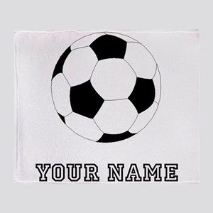 Soccer Ball (Custom) Throw Blanket
