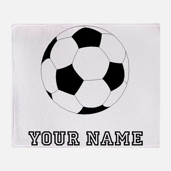 Soccer Ball (Custom) Throw Blanket