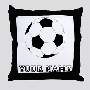 Soccer Ball (Custom) Throw Pillow
