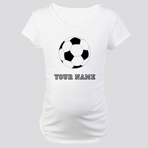 Soccer Ball (Custom) Maternity T-Shirt