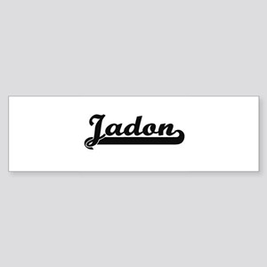 Jadon Classic Retro Name Design Bumper Sticker